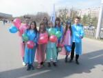 1 мая студенты КИИД приняли участие в праздничной демонстрации посвященной  празднику труда и весны